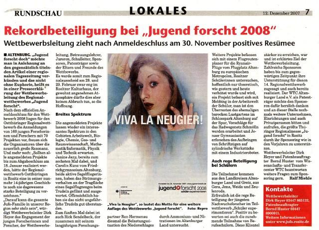 Rundschau 12 12 2007